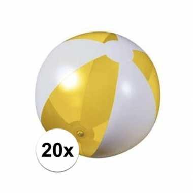 Goedkope x opblaasbare strandbal geel