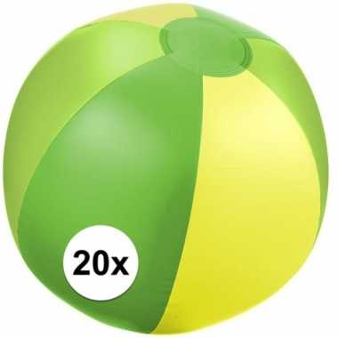 Goedkope x opblaasbare strandbal groen
