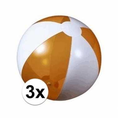 Goedkope x opblaasbare strandbal oranje