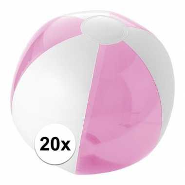 Goedkope x opblaasbare strandbal roze