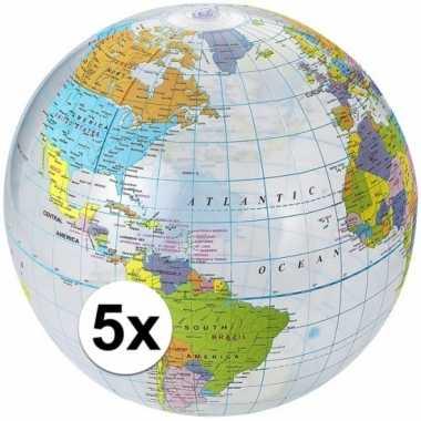 Goedkope x opblaasbare strandbal wereldbol
