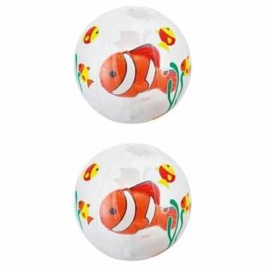 Goedkope x opblaasbare strandballen transparant vissen
