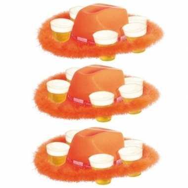 Goedkope x oranje bier hoeden bont