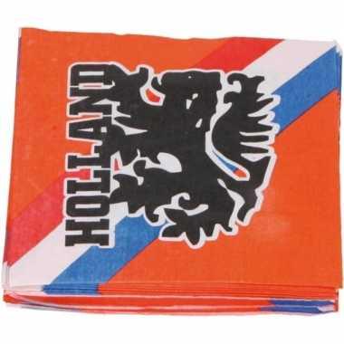 Goedkope x oranje holland/leeuw thema servetten papier