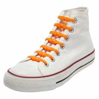 Goedkope x oranje holland veters oranje kinderen/volwassenen