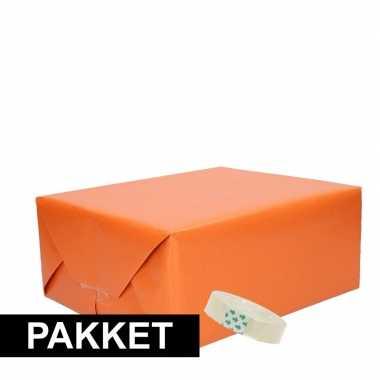 Goedkope x oranje kraft inpakpapier rolletje plakband pakket
