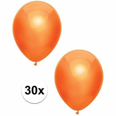 Goedkope x oranje metallic ballonnen