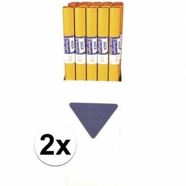Goedkope x oranje papieren tafelkleed rol