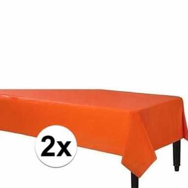 Goedkope x oranje tafelkleden plastic