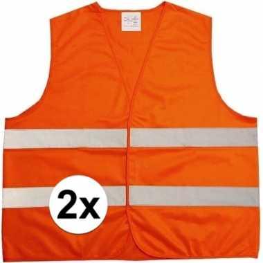 Goedkope x oranje veiligheidsvest volwassenen