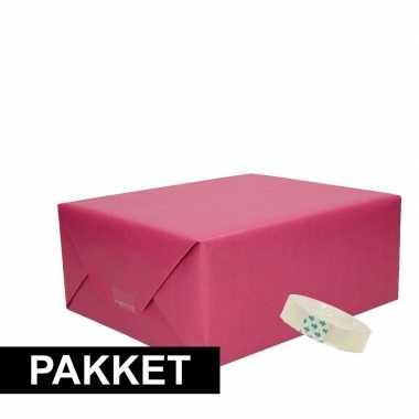 Goedkope x paars kraft inpakpapier rolletje plakband pakket