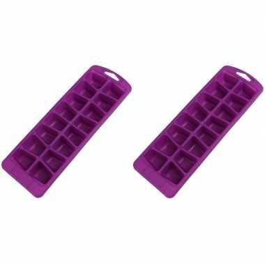 Goedkope x paarse ijsblokjes vormen flexibel ijsklontjes