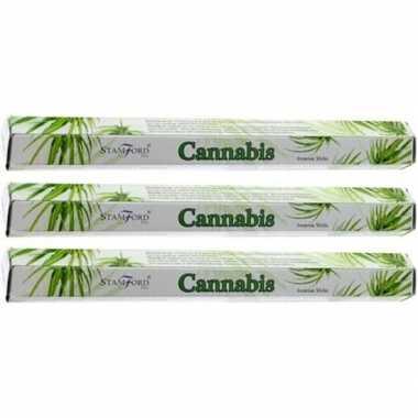 Goedkope x pakje stamford wierook stokjes cannabis/marihuana/wiet geu