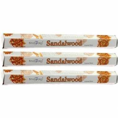 Goedkope x pakje stamford wierook stokjes sandelhout geur