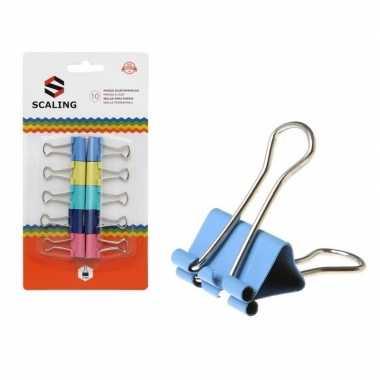 Goedkope x papier clips/houders gekleurd ,