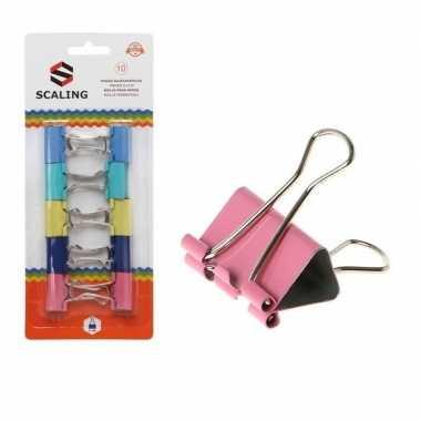 Goedkope x papier clips/houders gekleurd mm