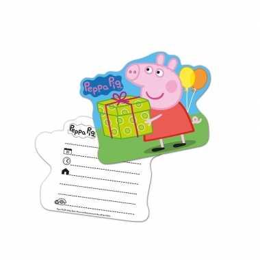 Goedkope x peppa pig themafeest uitnodingen/kaarten