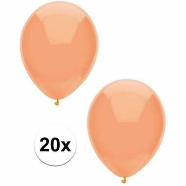 Goedkope x perzik oranje metallic ballonnen