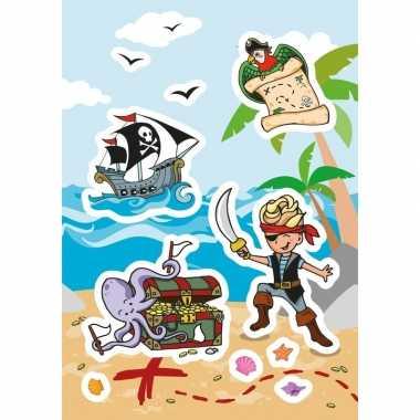 Goedkope x piraten schatkisten figuren stickers