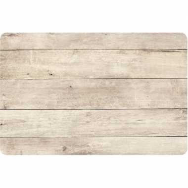 X placemat beige hout goedkope