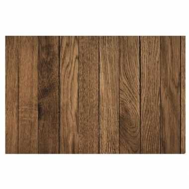 X placemat bruine hout goedkope