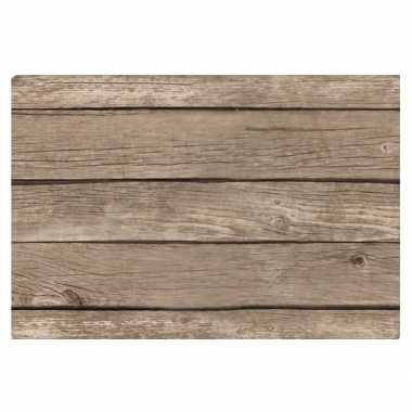 X placemat lichtbruine hout goedkope