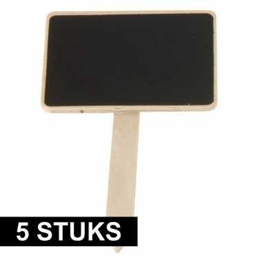 Goedkope x plantenstekers schoolbord/krijtbord stokje