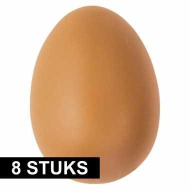 Goedkope x plastic bruine eieren hobby materiaal