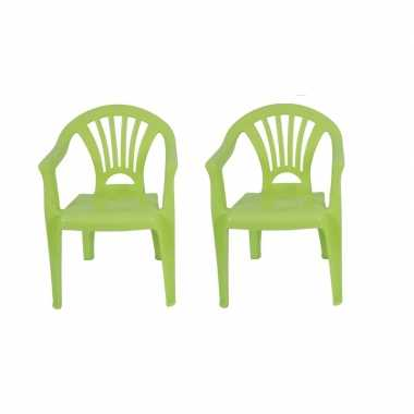 Goedkope x plastic kinderstoelen groen