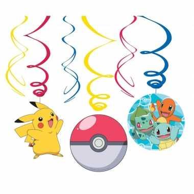 Goedkope x pokemon themafeest rotorspiralen hangdecoratie