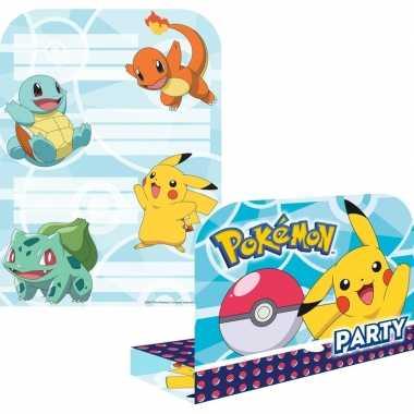 Goedkope x pokemon themafeest uitnodingen/kaarten