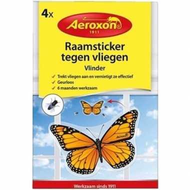 Goedkope x raamsticker / insectenval vlinder tegen vliegen motten