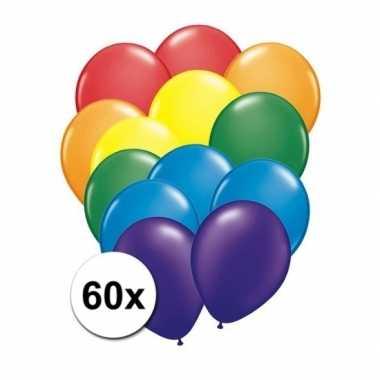 Goedkope x regenboog kleuren ballonnen