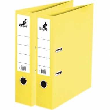 Goedkope x ringband mappen/ordners geel mm a