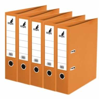 Goedkope x ringband mappen/ordners oranje mm a