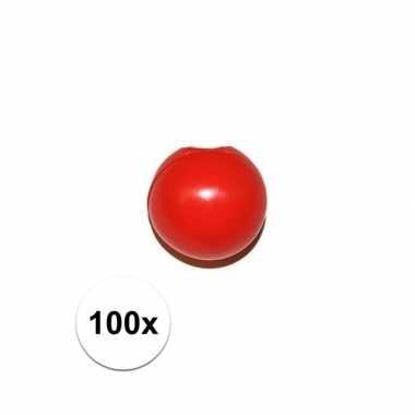 Goedkope x rode clownsneus/neuzen zonder elastiek