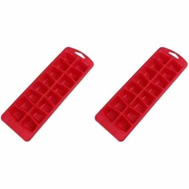 Goedkope x rode ijsblokjes vormen flexibel ijsklontjes