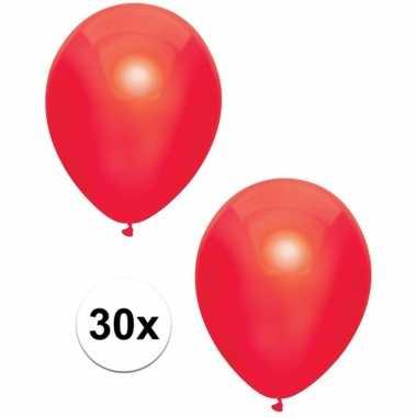 Goedkope x rode metallic ballonnen