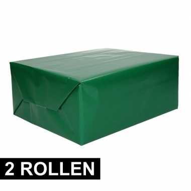 Goedkope x rollen inpakpapier groen rol
