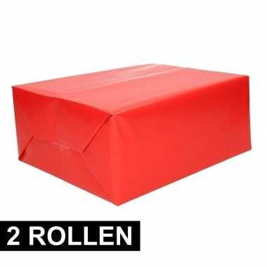Goedkope x rollen inpakpapier rood rol