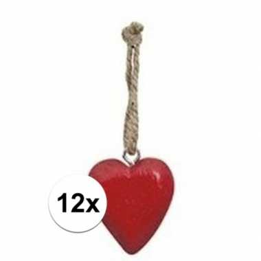 Goedkope x rood hartje aan touwtje