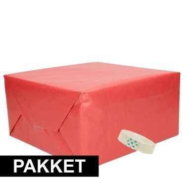 Goedkope x rood kraft inpakpapier rolletje plakband pakket