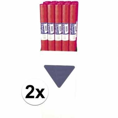 Goedkope x rood papieren tafelkleed rol