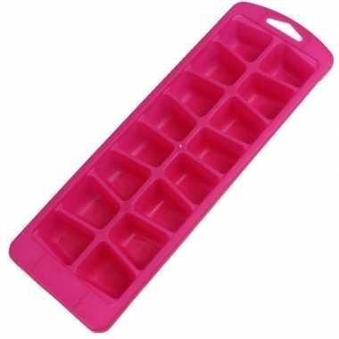 Goedkope x roze ijsblokjes vorm flexibel ijsklontjes
