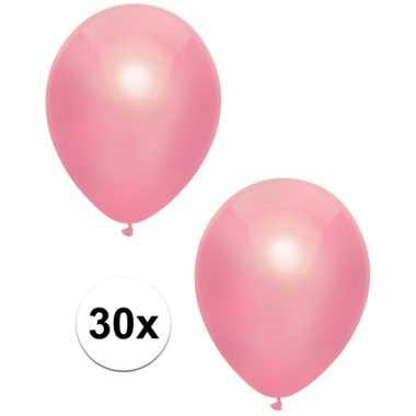 Goedkope x roze metallic ballonnen