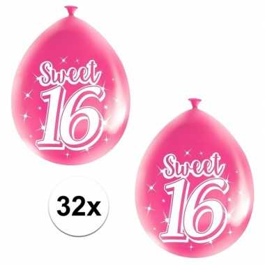 Goedkope x roze sweet verjaardag ballonnen
