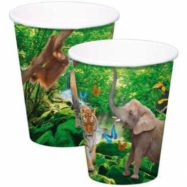 Goedkope x safari/jungle themafeest bekertjes ml