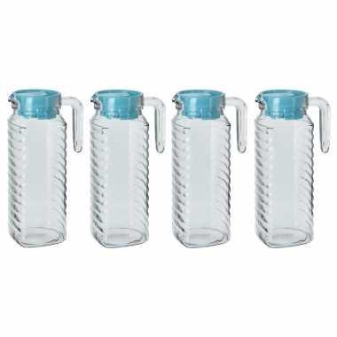 Goedkope x schenkkannen blauwe deksel liter