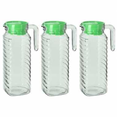 Goedkope x schenkkannen groene deksel liter