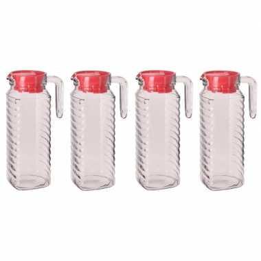 Goedkope x schenkkannen rode deksel liter